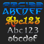 Mixed Text Effects Layer Styles by: anilcorn