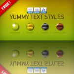 Free Yummy Text PS Layer Styles