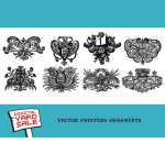 8 Free Vector Printers Ornaments