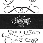 Free Vectors: Hand Drawn Vector Swooshes