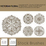 Victorian Floral Free Photoshop Brushes
