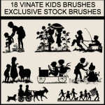 Vintage Kids Free Photoshop Gimp Brushes