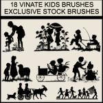 Vintage Kids Free Photoshop Gimp Brushes