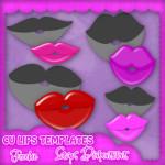 CU Lips Template by: Scraps Dimensions