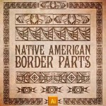 Native American Borders Vectors