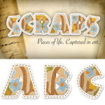 Free Digiscrap Alpha and Tut by: PSHero