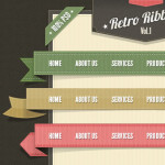 Free Retro Ribbons PSD Pack