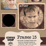 Vintage Frames PSD by: The Coffee Shop Blog