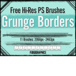 Free Hi-Res Grunge Borders Brushes