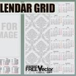 2012 Calendar Grid Template
