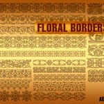 Floral Borders Vectors Shapes