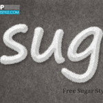 Free Sugar Text Effects Layer Style