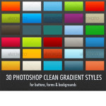 30 Clean Gradient Photoshop Styles