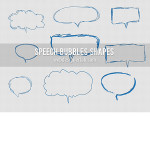 Cute Speech Bubble Custom Shapes