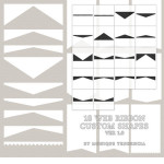 Custom Shapes Web Ribbons