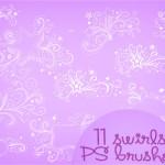 Cute Doodle Swirls Brushes