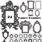 Vintage Baroque Frames Brushes