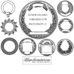 Vintage Round Frame Illustration Brushes