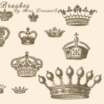 Vintage Crown Brushes for Photoshop