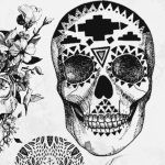Hipster Skull Brushes for Photoshop