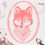 Vintage Wolf & Baby Animal Brushes for Photoshop