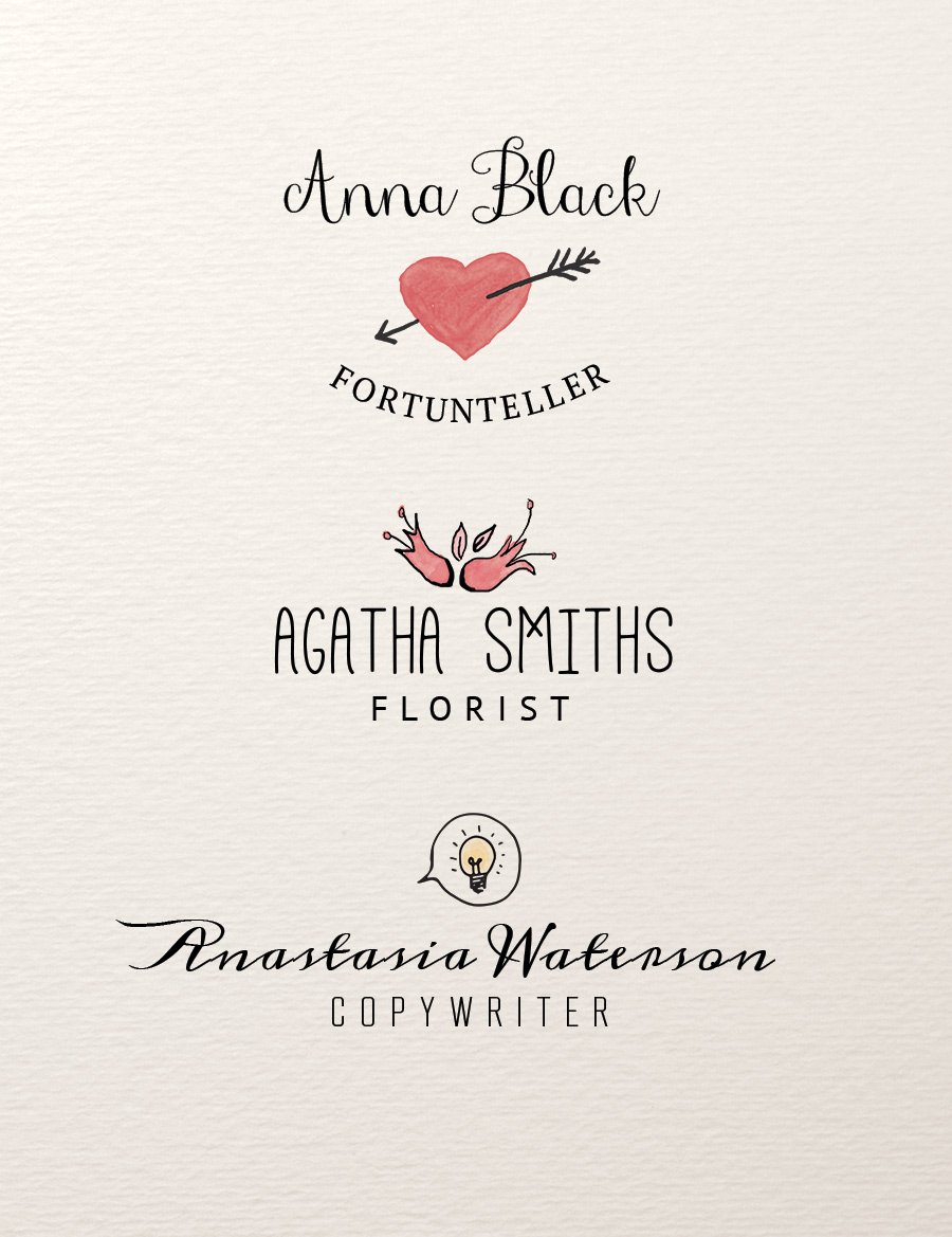 Hand Illustrated Logos PSD