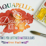 Aquarelle Watercolor Photoshop Layer Styles & Shapes