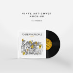 Vinyl Record Album Cover Art Mockup PSD for Photoshop