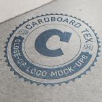 Letterpress Logo Mockup Photoshop PSD