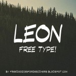 Leon Display Poster font by Marcelo Reis Melo