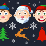 Free Christmas Character Faces PSD