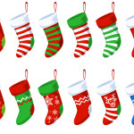 Free PSD Christmas Stocking