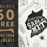 Free Hand Drawn Elements for Photoshop and Illustrator