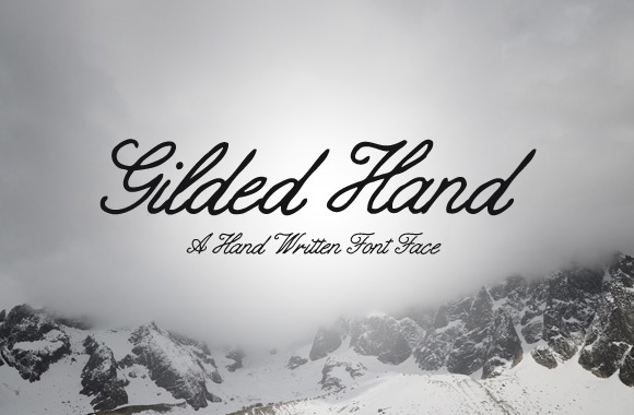 Free Hand Written Font - Gilded