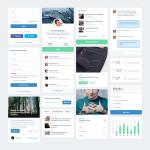 FLAT UI Web Design PSD