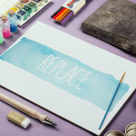 Watercolor Sketch Presentation Mock-Up – Photoshop PSD