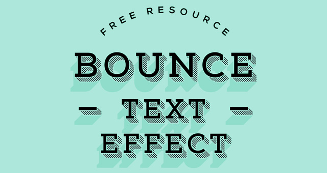 Bounce Vintage Shadow 3D Text Effect