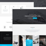 One Page Portfolio Web Template PSD