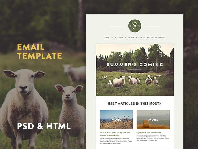 Green Village HTML Newsletter Template