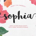 Sophia Brush Script Font