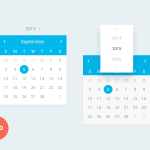 Flat Website Design Calendar Resource