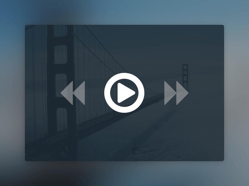 Website User Interface Design -Media Player PSD Mockup