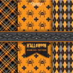Seamless Background Patterns for Halloween