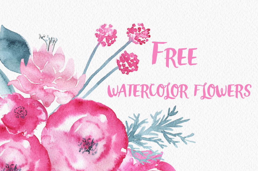 Gorgeous Clip Art Download - Watercolor Flowers