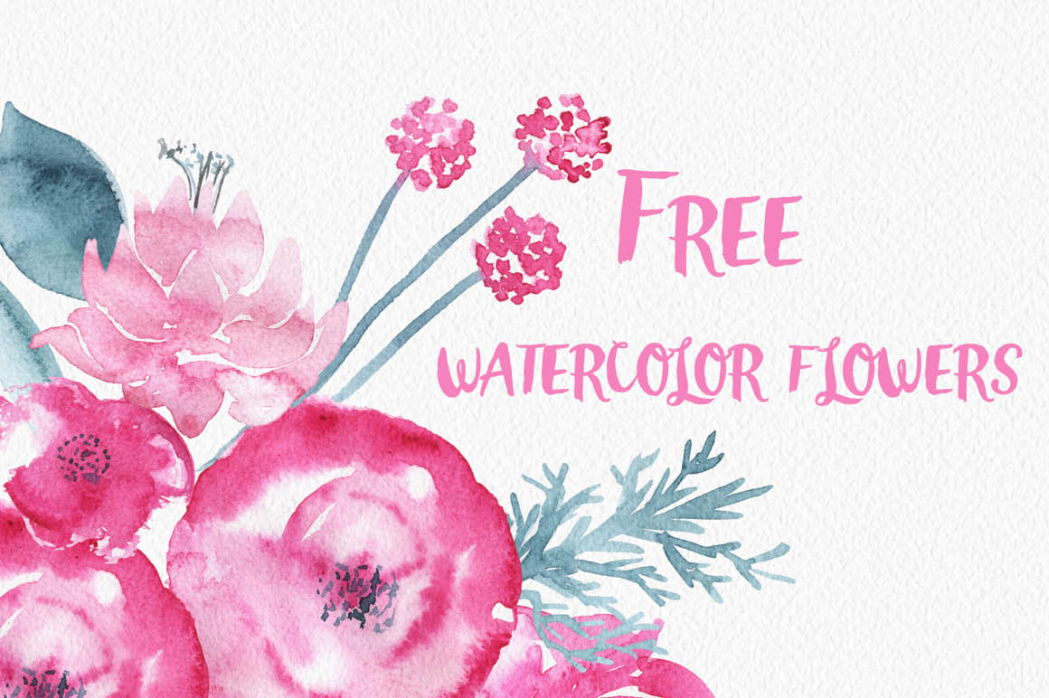 watercolor flower clipart free - photo #7