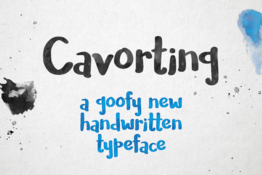 Cavorting Hand Drawn Font
