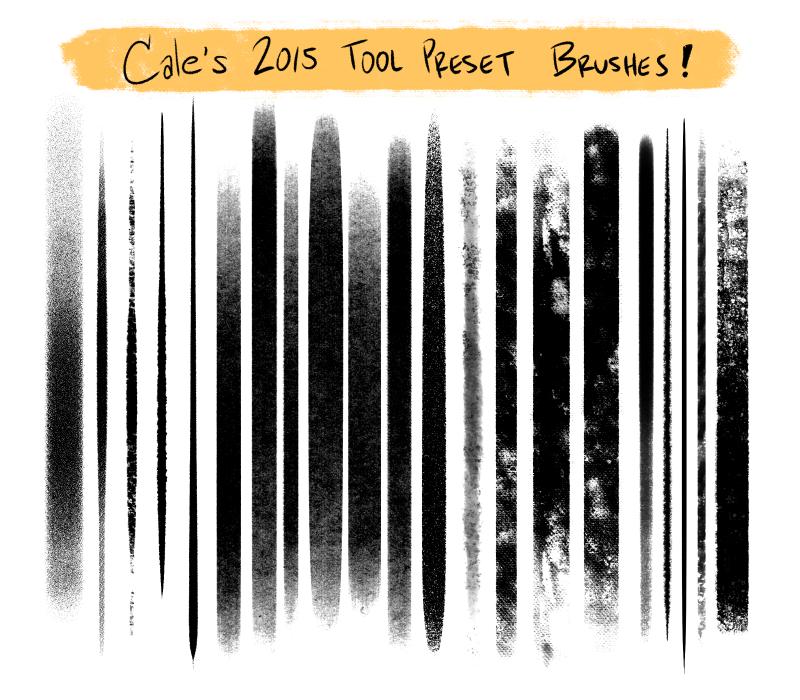 Cale's Photoshop Tool Preset Brushes Set #1