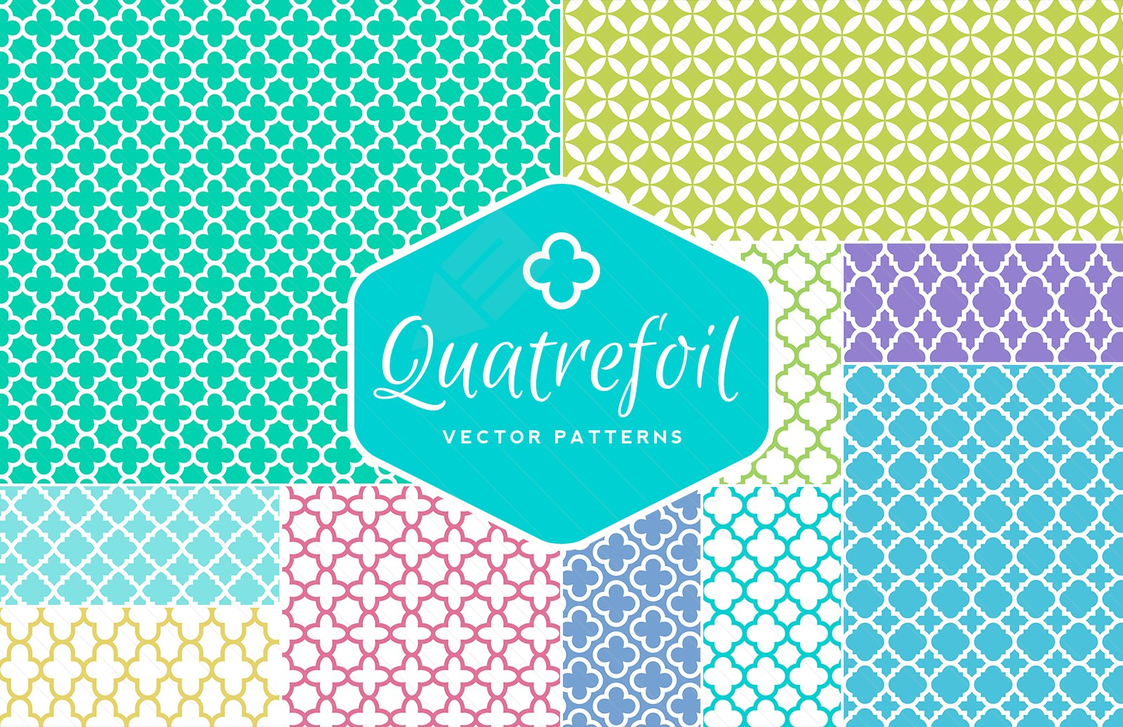 Commercial Use Quatrefoil Vector Patterns