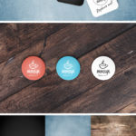 Button Badge Mockup with Background Textures