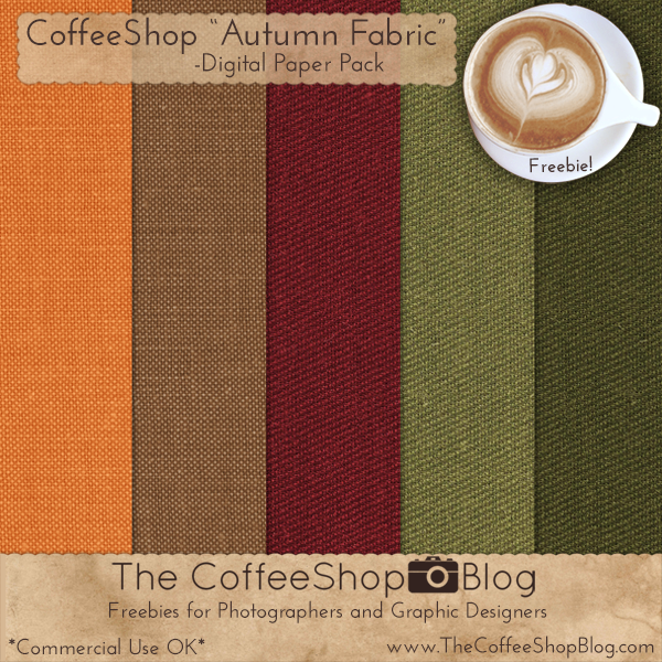 Free Fall Burlap Digital Scrapbooking Papers for Fall